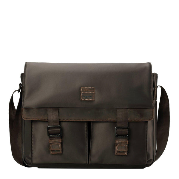 TRP0526 Troop London Heritage Nylon Large Messenger Bag, Laptop Satchel - Troop London