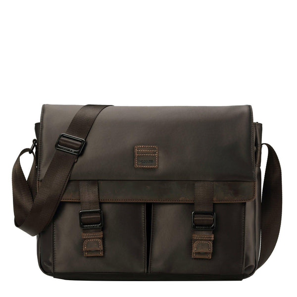 TRP0526 Troop London Heritage Nylon Large Messenger Bag, Laptop Satchel