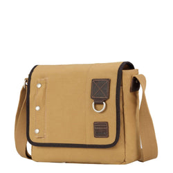 TRP0529 Troop London Heritage Washed Canvas Across Body Bag, Medium Crossbody Bag - Troop London