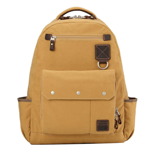 TRP0531 Troop London Heritage Washed Canvas Daypack, Laptop Backpack - Troop London