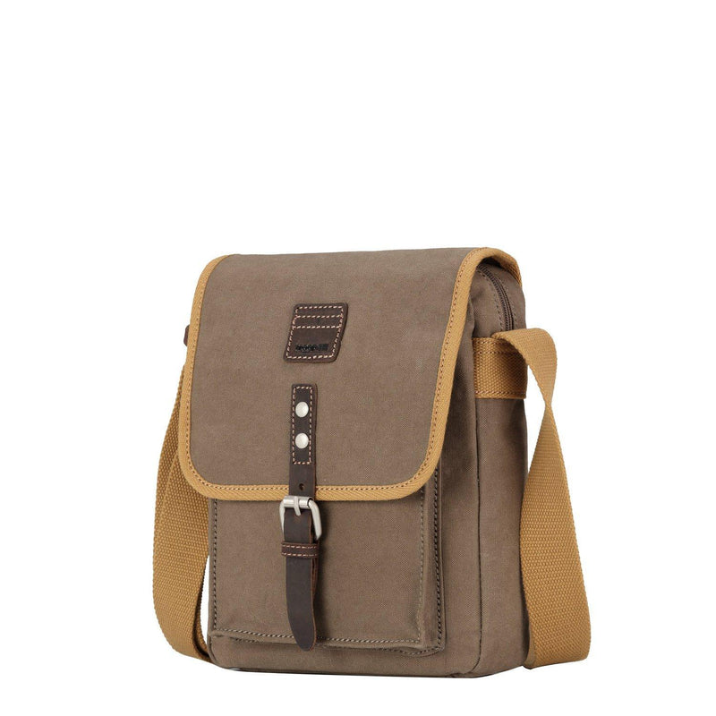 TRP0533 Troop London Heritage Washed Canvas Across Body Bag, Medium Crossbody Bag - Troop London