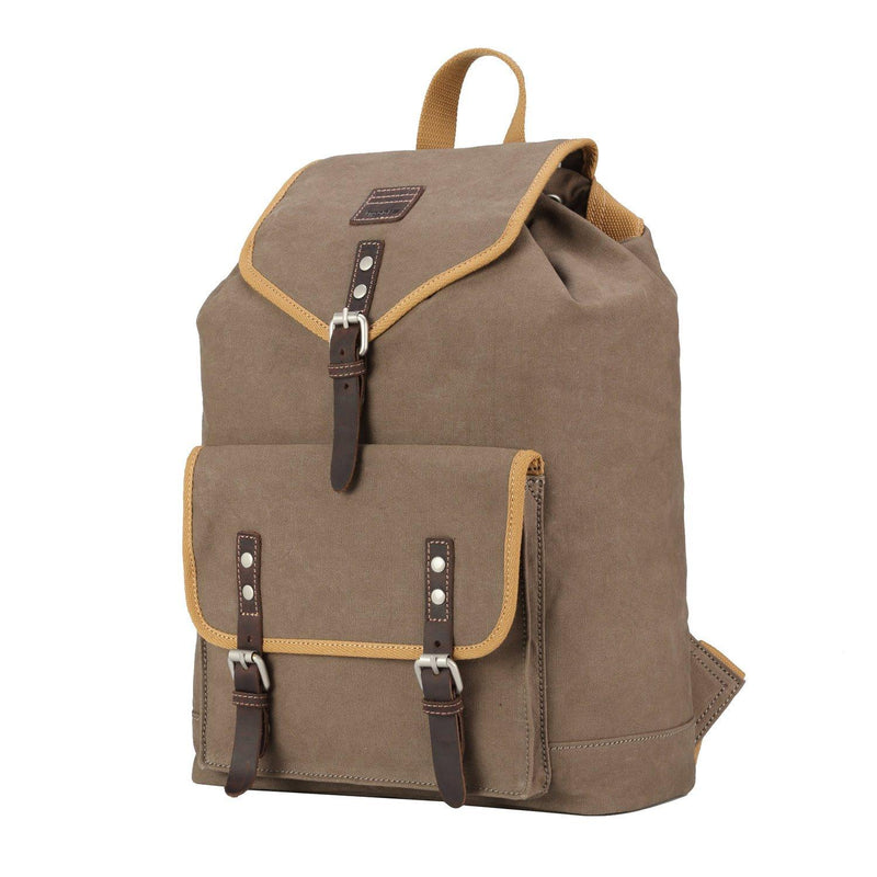 TRP0534 Troop London Heritage Washed Canvas Daypack, Laptop Backpack - Troop London