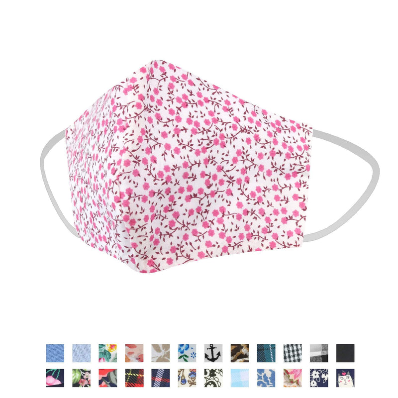 Face Coverings - Handmade Reusable Cotton Face Masks Curved Shape