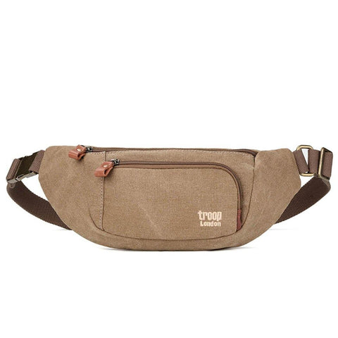 L1513 Troop London Classic Canvas Waist Bag (Brown) - troop-london-official