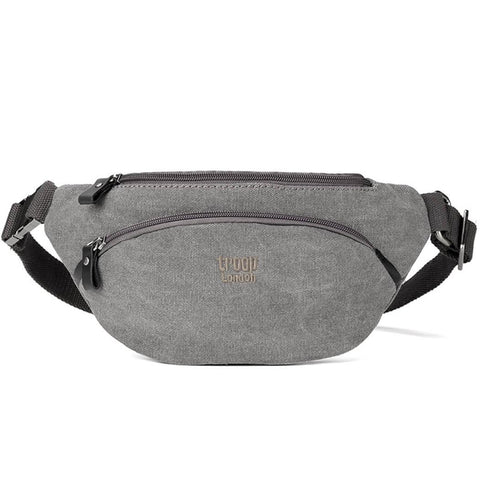 L1514 Troop London Classic Canvas Waist Bag (Black) - troop-london-official