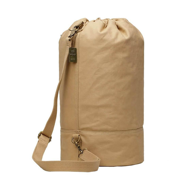 L873B Troop London Heritage Canvas Single Strap Backpack, Shoulder Bag, Gym Bag - Troop London