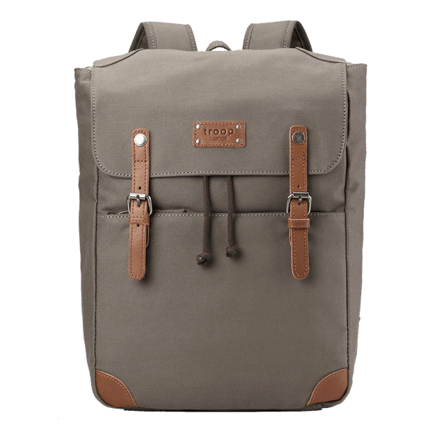 TDC005A Troop London Classic Canvas Backpack, Smart Casual Daypack, Tablet Friendly Backpack