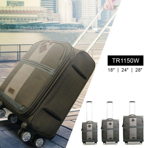 TR1150W Full Set - Troop London Urban 8Wheels Light Weight Trolley Case (3 Pieces) - troop-london-official