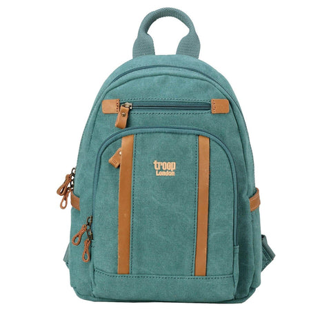 TRP0255 Troop London Classic Small Canvas Backpack ║ H34 x W25 x D12 cm - troop-london-official