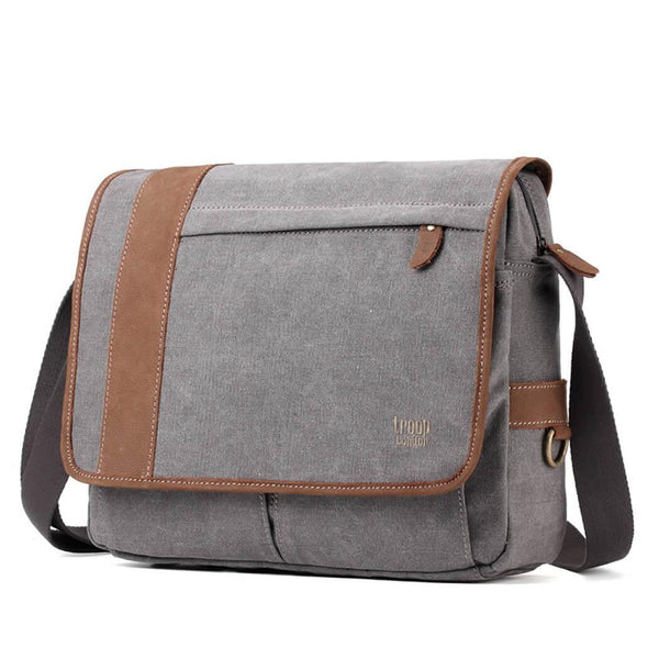 TRP0306 Troop London Classic Canvas Messenger Bag - Troop London