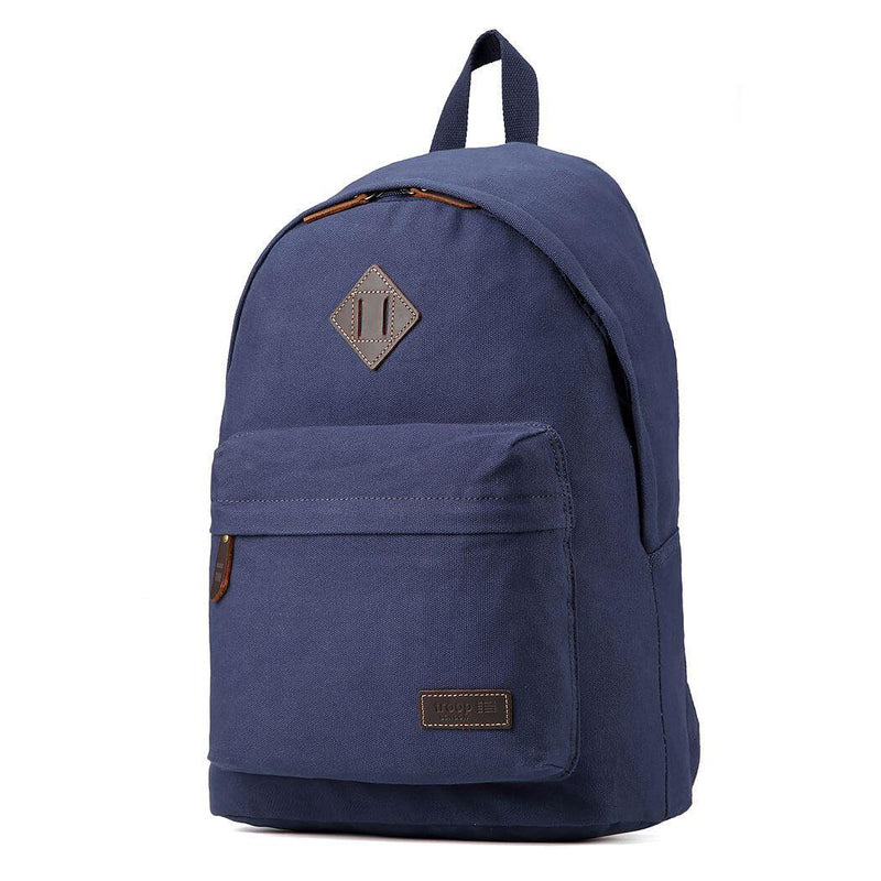 TRP0384 Troop London Heritage Canvas Backpack, Casual Daypack - Troop London