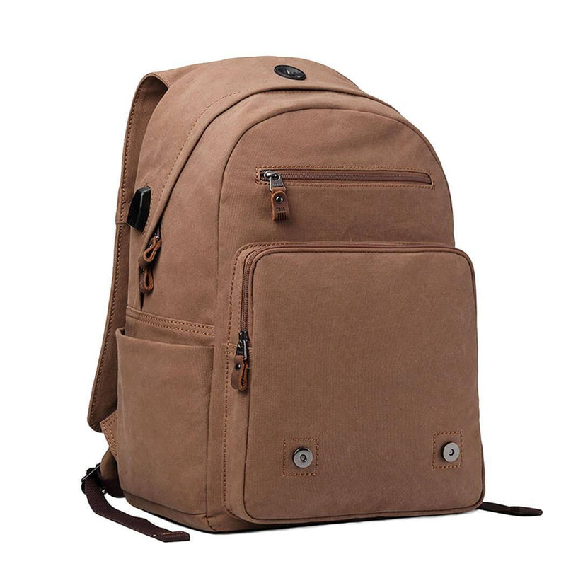 "TRP0423A Troop London Classic Canvas 15"" Laptop Backpack, Canvas Smart Casual Daypack"