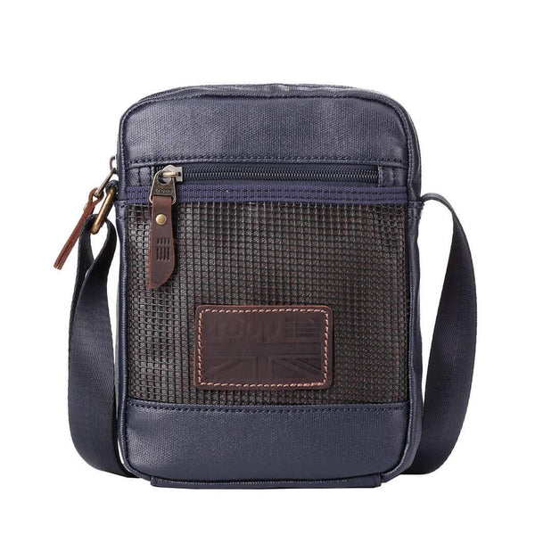 TRP0458 Troop London Heritage Canvas Across Body Bag, Small Secure Travel Bag - troop-london-official