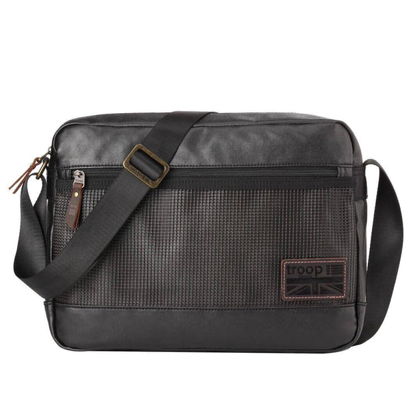 TRP0459 Troop London Heritage Canvas Laptop Messenger Bag, Smart Travel Bag - troop-london-official