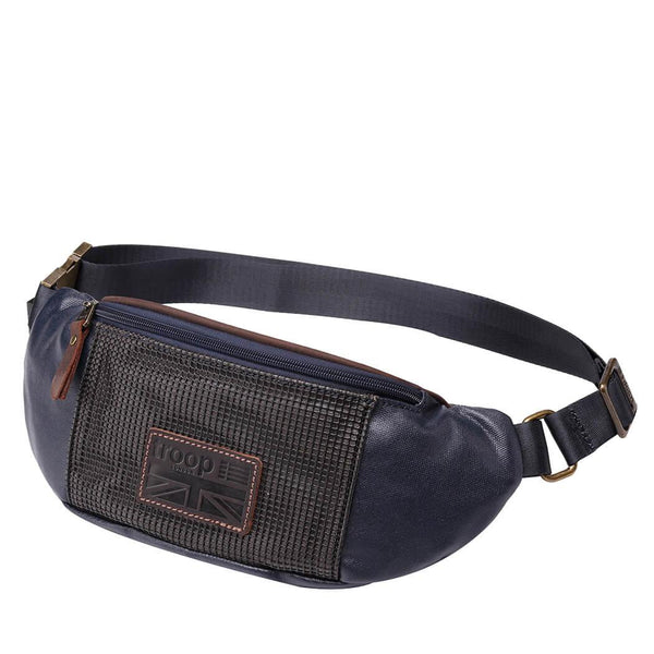 TRP0462 Troop London Heritage Coated Canvas Casual Waist Bag - troop-london-official