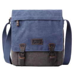 TRP0465 Troop London Heritage Waxed Canvas Messenger Bag, Smart Travel Bag - troop-london-official