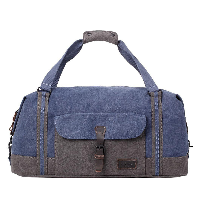 TRP0466 Troop London Heritage Waxed Canvas Travel Duffel Bag, Canvas Holdall, Gym Bag - Troop London
