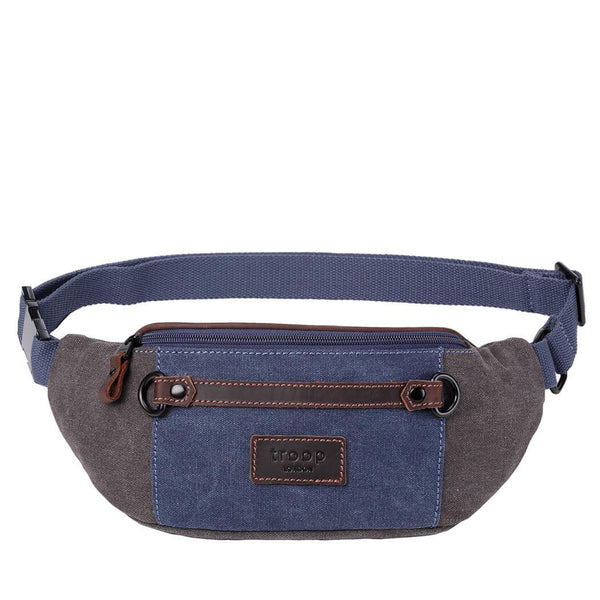 TRP0468 Troop London Heritage Waxed Canvas Casual Waist Bag - troop-london-official