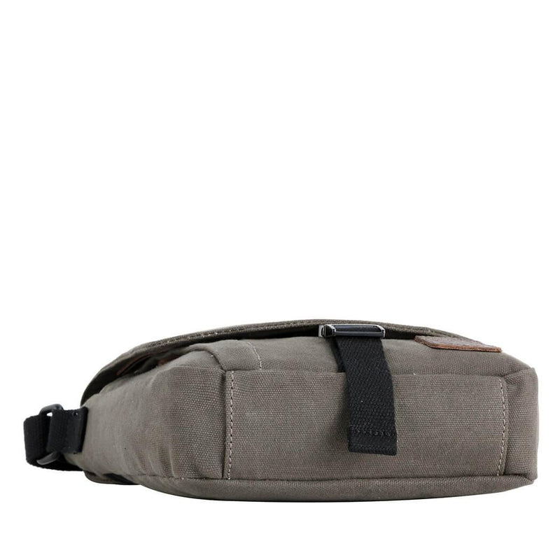TRP0470 Troop London Heritage Waxed Canvas Across Body Bag, Slim Travel Bag - Troop London