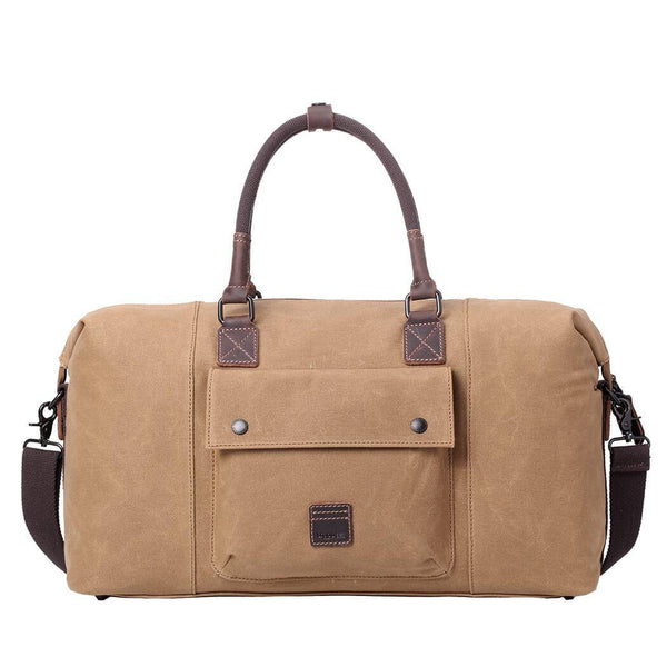TRP0484 Troop London Heritage Waxed Canvas Travel Duffel Bag, Canvas Holdall, Gym Bag - troop-london-official