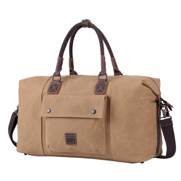 TRP0484 Troop London Heritage Waxed Canvas Travel Duffel Bag, Canvas Holdall, Gym Bag