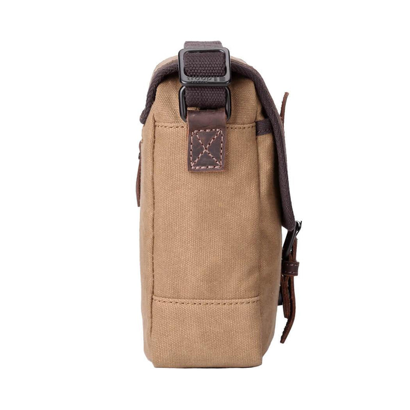 TRP0485 Troop London Heritage Waxed Across Body Bag, Shoulder Bag, Canvas Bag for Travel and Work
