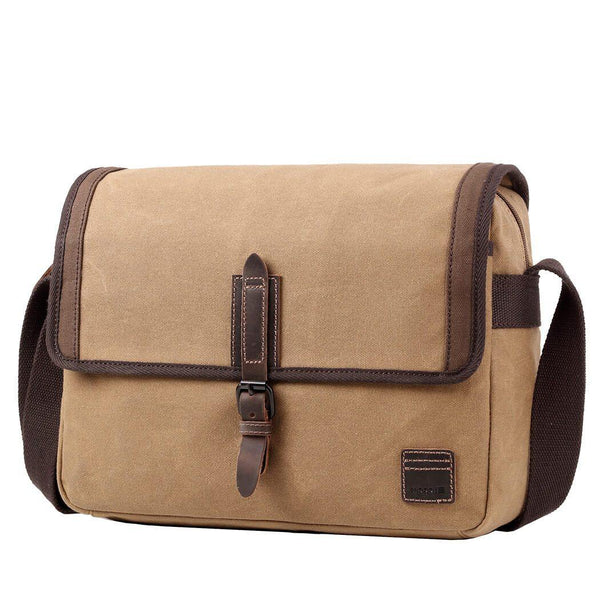TRP0486 Troop London Heritage Waxed Canvas Laptop Messenger Bag, Tablet Friendly, Canvas Bag for Travel and Work - troop-london-official