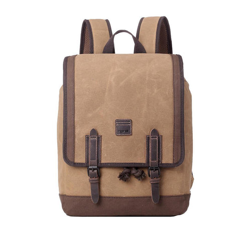 TRP0488 Troop London Heritage Waxed Canvas Laptop Backpack, Canvas Backpack for Travel and Work - troop-london-official