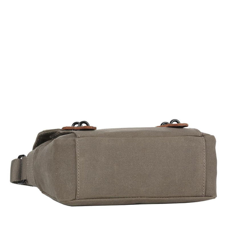 TRP0491 Troop London Heritage Waxed Canvas Across Body Bag, Shoulder Bag, Canvas Bag for Travel and Work - troop-london-official