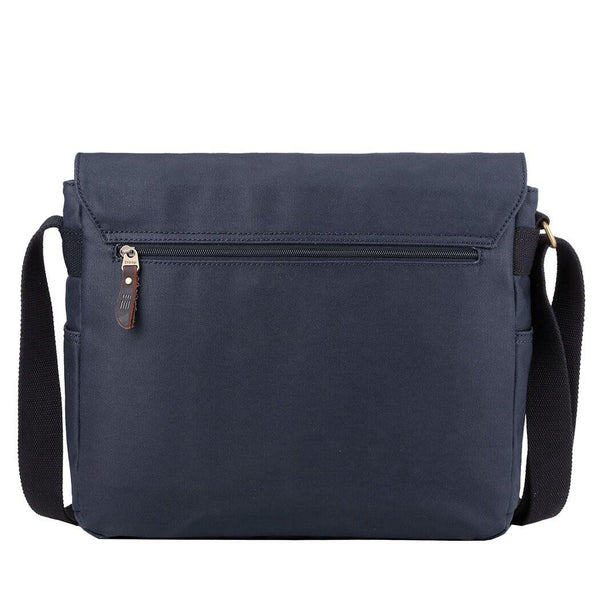 TRP0494 Troop London Heritage Canvas Laptop Messenger Bag, Canvas Bag for Travel and Work - troop-london-official