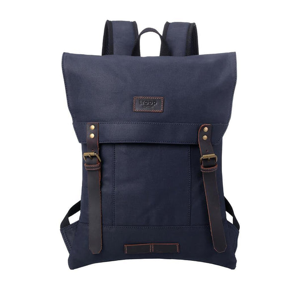 TRP0495 Troop London Heritage Canvas Laptop Backpack, Canvas Backpack for Travel and Work - Troop London