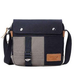 TRP0497 Troop London Heritage Canvas Across Body Bag, Tablet Friendly, Shoulder Bag - Troop London