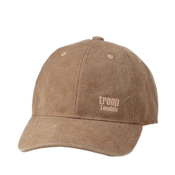 TRP0504 Troop London Accessories Canvas Baseball Cap, Outdoor Hat, Sun Hat - Troop London