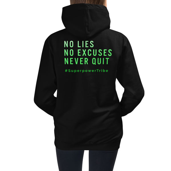 Teen Superpower Tribe 3 Rules Hoodie - Black