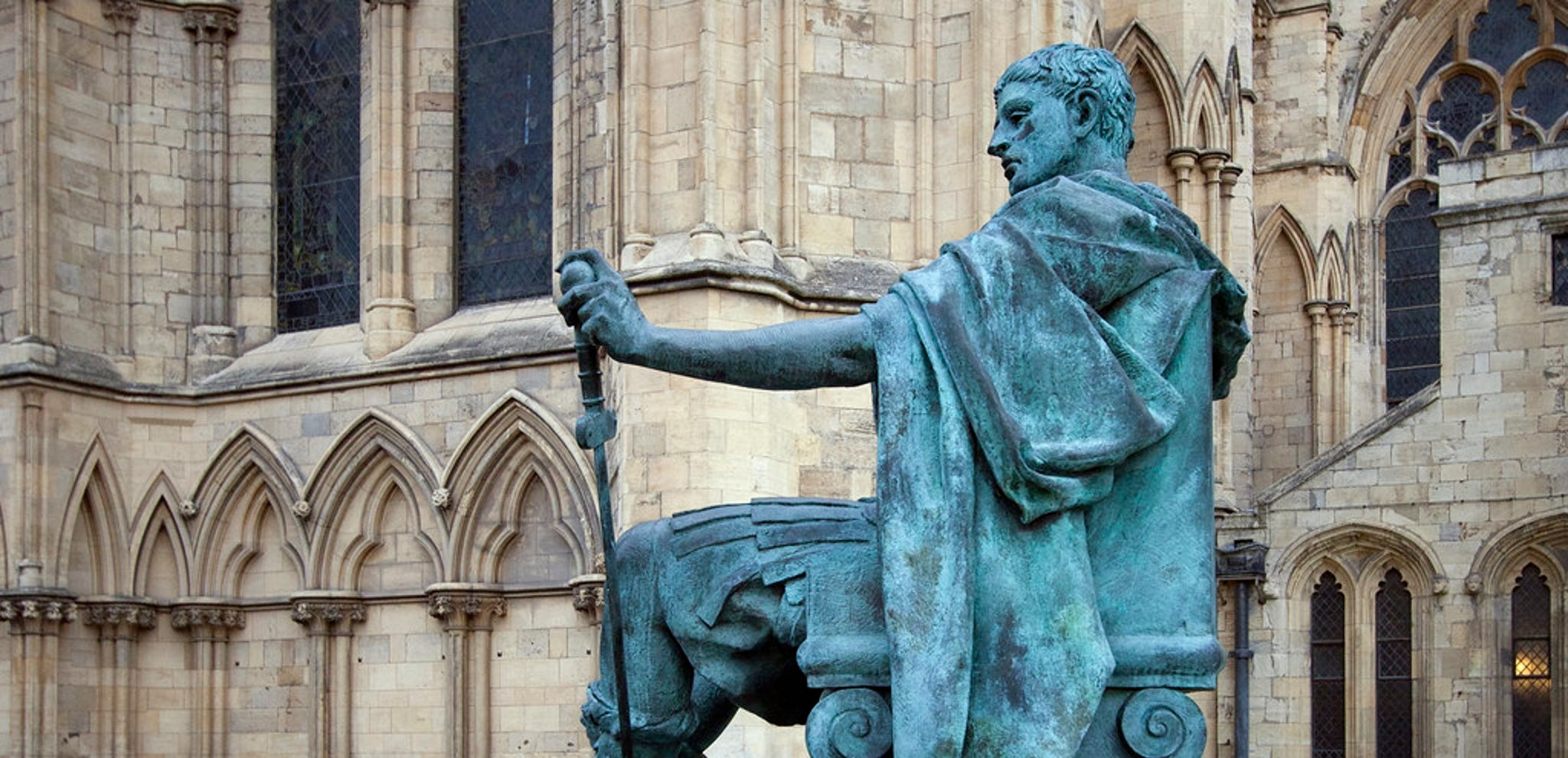 A statue of Constantine the Great in York, UK.