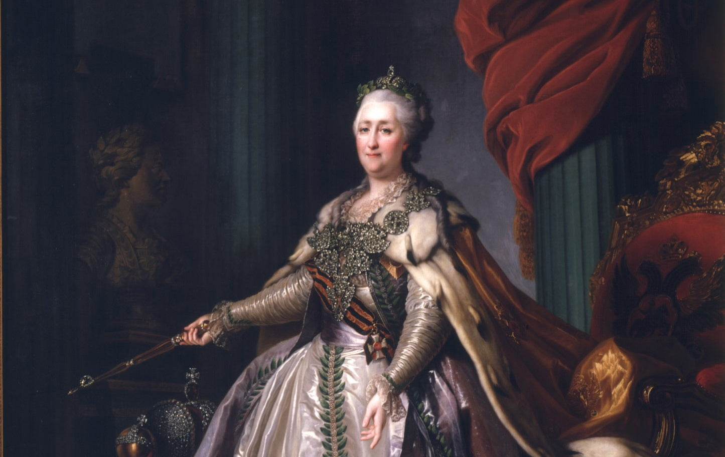 An oil painting of Catherine the Great (1780's)