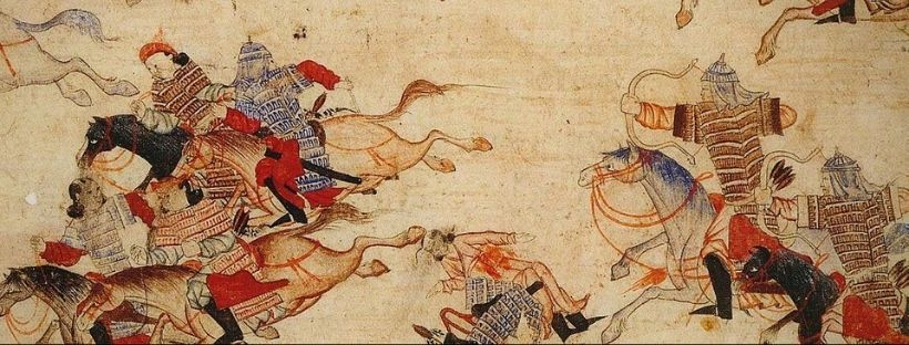 Mongols on horseback