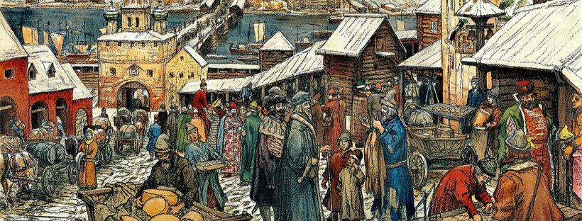 The markets of Novgorod