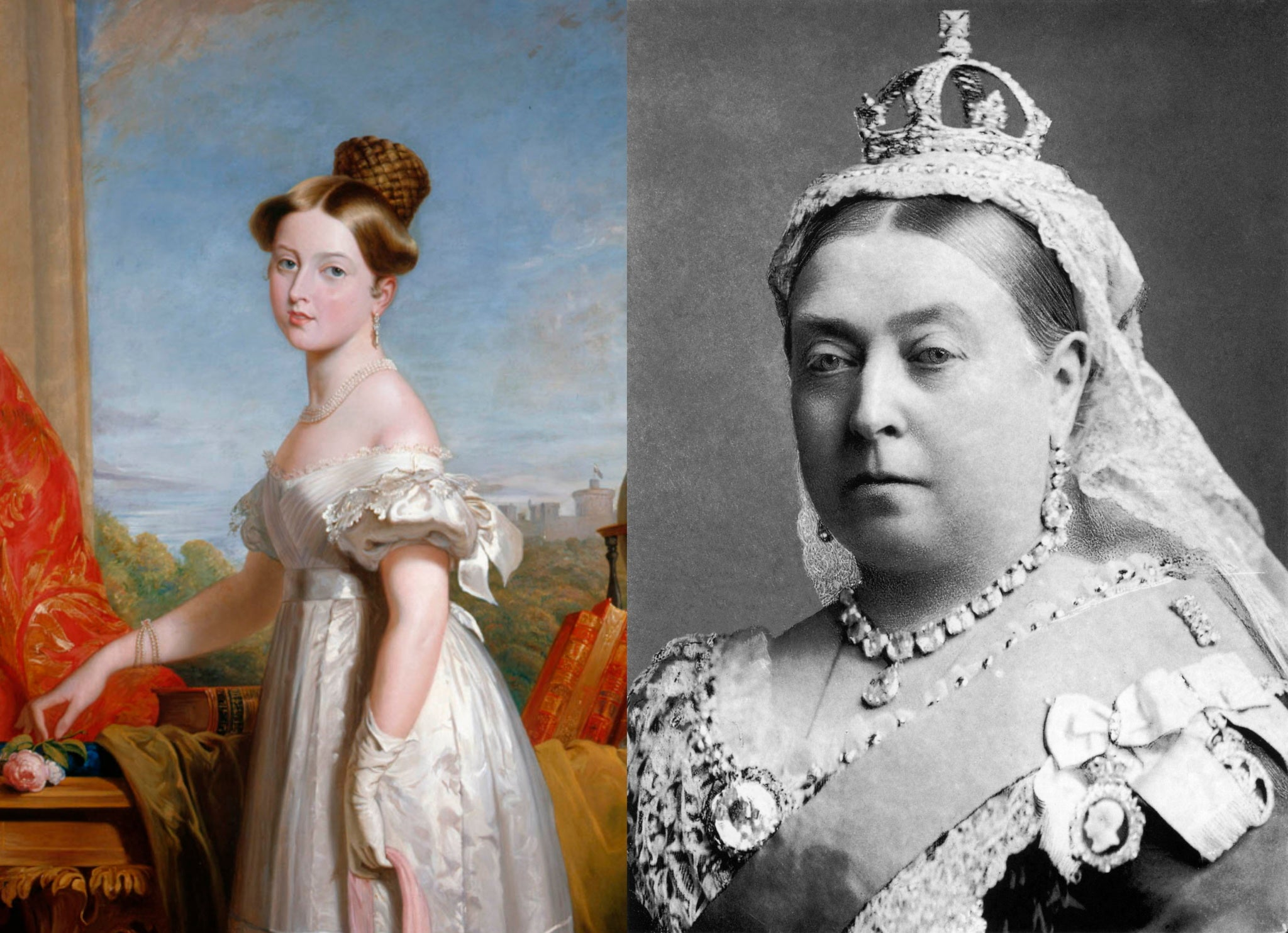 Queen Victoria, young and old