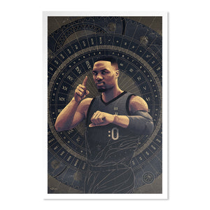 The NBPA Mr. Clutch Award Damian Lillard - Illustrated by Ryan T. Simpson