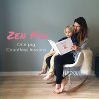 Yoga mom reads Zen Pig book to teach her son gratitude and compassion