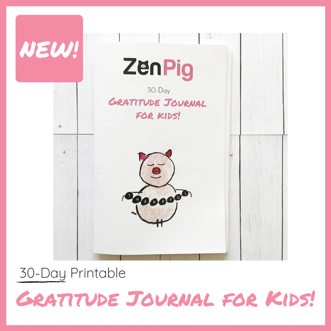 30-Day Gratitude Journal for Kids Printable