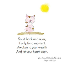 Load image into Gallery viewer, Zen Pig teaches presence and gratitude to children.