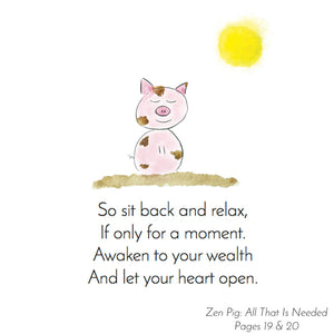 Zen Pig teaches presence and gratitude to children.