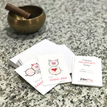 Load image into Gallery viewer, Zen Pig valentine's cards for kids, classrooms, and parties