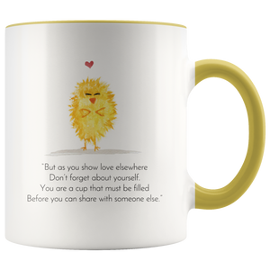 """Zen Pig and the Self-love Chick"" Mug"