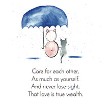 Load image into Gallery viewer, In the first installment of the Zen Pig series, we find him talking about love and it being true wealth.