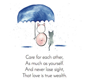 In the first installment of the Zen Pig series, we find him talking about love and it being true wealth.