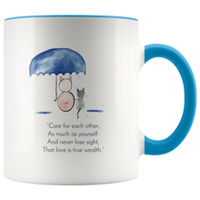 "Load image into Gallery viewer, ""Zen Pig and the Compassionate Umbrella"" Mug"