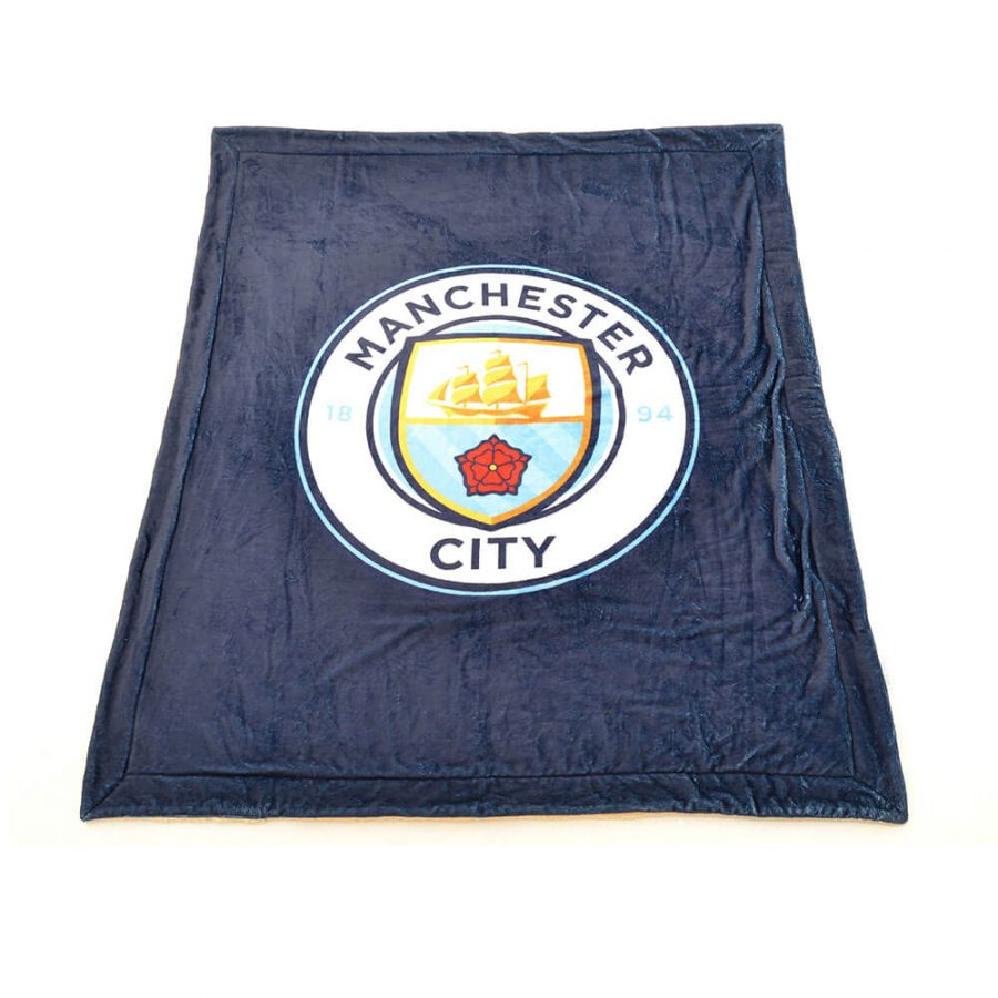 MANCHESTER CITY TEAM KIT BLANKET
